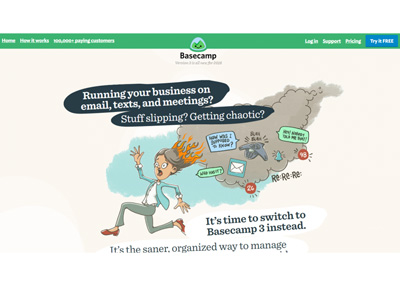 Basecamp Example Landing Page